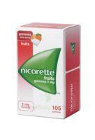 Nicorette 2 Mg Gomme à Mâcher Médicamenteuse Sans Sucre Fruits Plq/105 à Paris