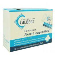 Alcool A Usage Medical Gilbert 2,5 Ml Compr Imprégnée 12sach à Paris