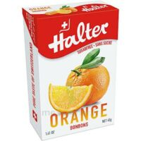 Halter Bonbon Sans Sucre Orange 40g à Paris